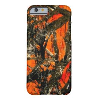 """""""Camuflaje de la rama de árbol anaranjado """" Funda De iPhone 6 Barely There"""