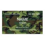 Camuflaje de la selva plantillas de tarjetas personales