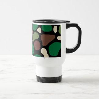 Camuflaje de la selva taza de café