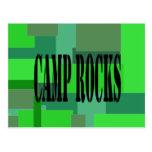 Camuflaje de las rocas del campo tarjeta postal