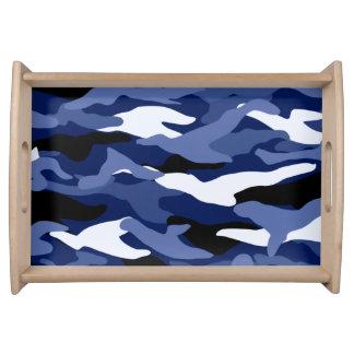 Camuflaje de los azules marinos bandeja