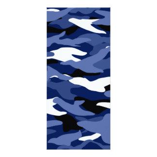 Camuflaje de los azules marinos tarjeta publicitaria