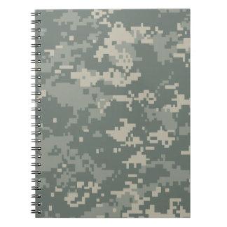 Camuflaje del ACU del ejército Libro De Apuntes Con Espiral
