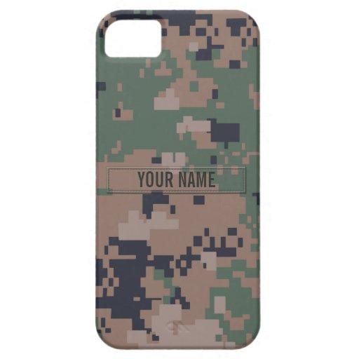 Camuflaje del arbolado de Digitaces (personalizabl iPhone 5 Carcasa