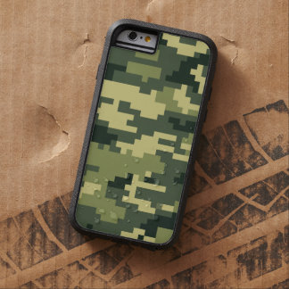 Camuflaje del arbolado del pixel de 8 pedazos funda de iPhone 6 tough xtreme