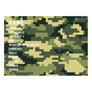Camuflaje del arbolado del pixel de 8 pedazos tarjetas de visita grandes
