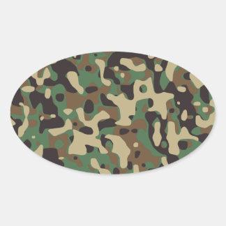 Camuflaje del arbolado pegatina de oval