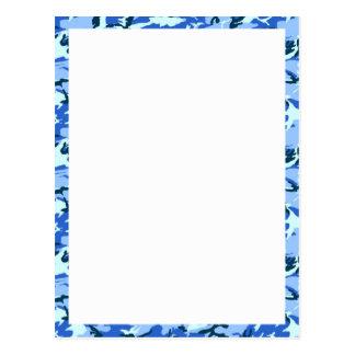 Camuflaje del azul de cielo del arbolado con blanc postales