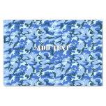 Camuflaje del azul de cielo del arbolado papel de seda pequeño