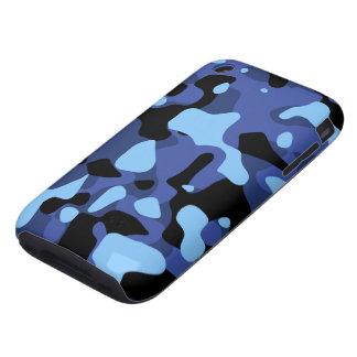 Camuflaje del azul de cielo tough iPhone 3 protector