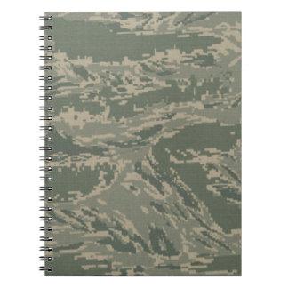 Camuflaje del camuflaje de la fuerza aérea note book