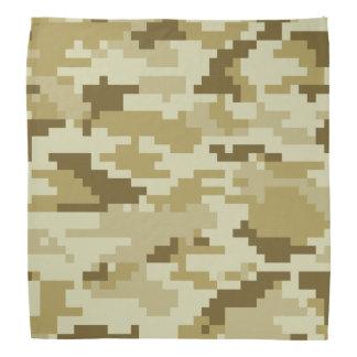 Camuflaje del desierto del pixel de 8 pedazos bandana