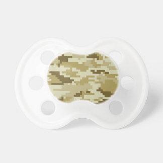 Camuflaje del desierto del pixel de 8 pedazos chupetes de bebe