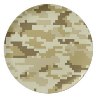 Camuflaje del desierto del pixel de 8 pedazos platos de comidas