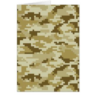 Camuflaje del desierto del pixel de 8 pedazos felicitaciones
