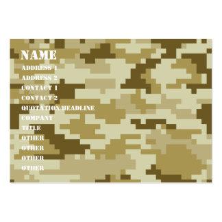 Camuflaje del desierto del pixel de 8 pedazos tarjetas de visita grandes