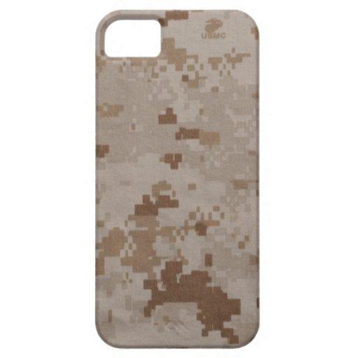 Camuflaje del desierto del USMC Funda Para iPhone SE/5/5s