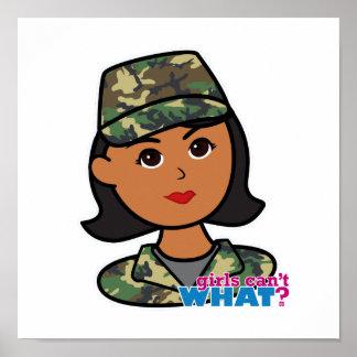 Camuflaje del ejército del arbolado poster