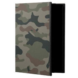 Camuflaje del ejército en verde y los militares de