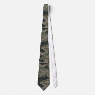 Camuflaje del ejército en verde y los militares de corbata personalizada