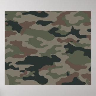 Camuflaje del ejército en verde y los militares de poster