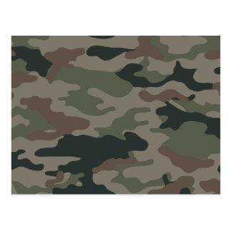 Camuflaje del ejército en verde y los militares de postales