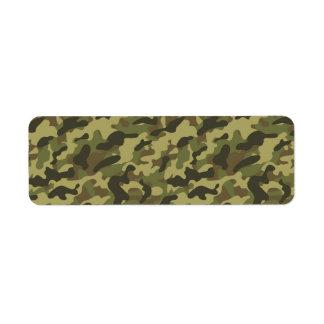 Camuflaje del ejército etiqueta de remite