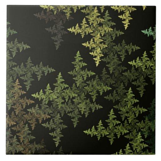 Camuflaje del fractal azulejo cuadrado grande