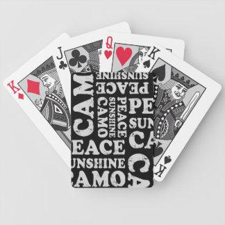 Camuflaje del humor de la caza de los ciervos baraja de cartas