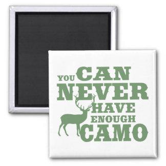 Camuflaje del humor de la caza de los ciervos imán cuadrado