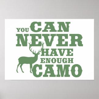 Camuflaje del humor de la caza de los ciervos póster