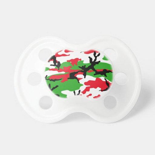 Camuflaje del navidad chupetes para bebes