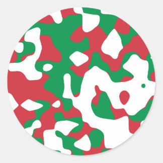 Camuflaje del navidad etiquetas