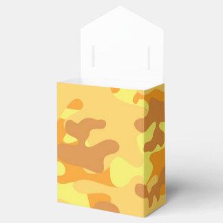 Camuflaje del oro caja para regalos de fiestas