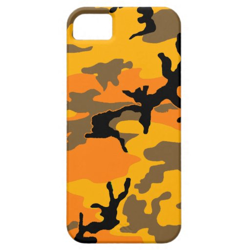 Camuflaje del otoño iPhone 5 funda