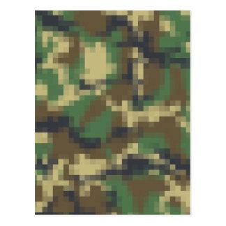Camuflaje del pixel tarjeta postal