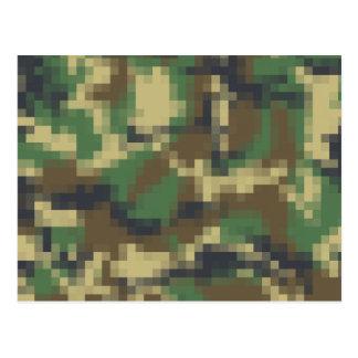 Camuflaje del pixel tarjetas postales