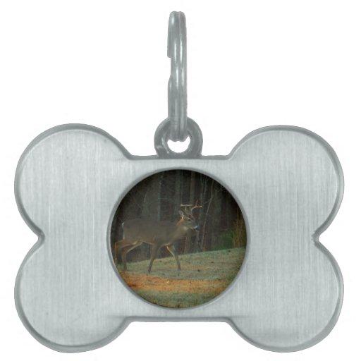 Camuflaje del verde de los ciervos del macho/del d placa de mascota