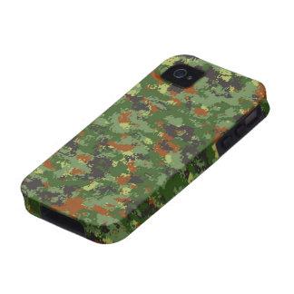 Camuflaje europeo iPhone 4 fundas