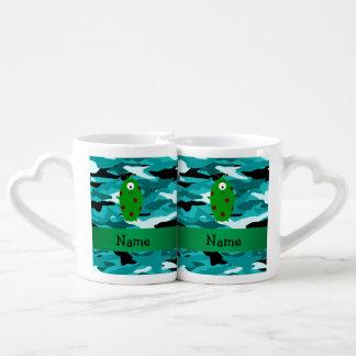 Camuflaje extranjero conocido personalizado de la tazas para parejas