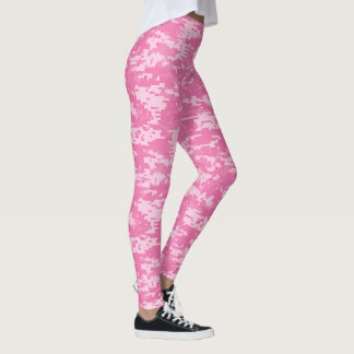 Camuflaje femenino rosado de Camo Leggings
