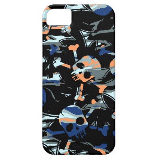 Camuflaje gótico del cráneo de Camo iPhone 5 Carcasas