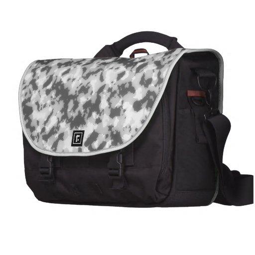 Camuflaje gris abstracto bolsas de portatil