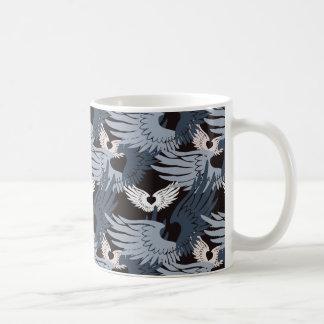 Camuflaje Heartwings (bluegray) Taza De Café