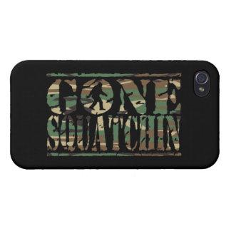 CAMUFLAJE IDO DE SQUATCHIN iPhone 4 PROTECTORES