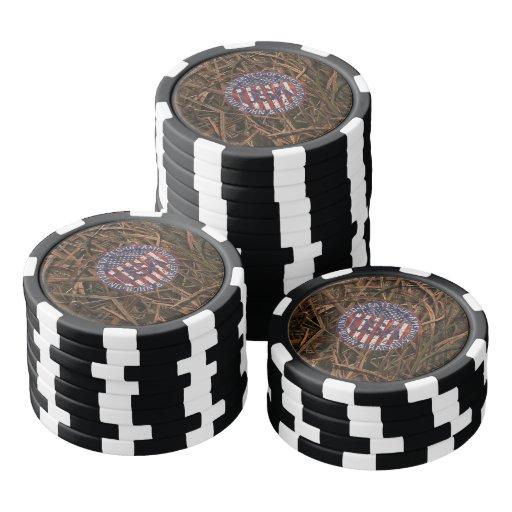 Camuflaje los E.E.U.U. Fichas De Póquer