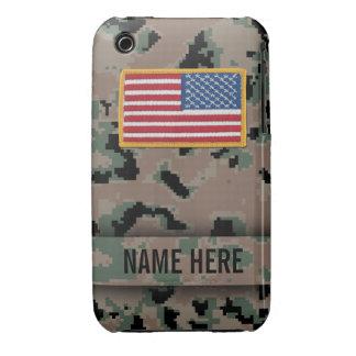 Camuflaje marino de Digitaces del estilo iPhone 3 Case-Mate Fundas