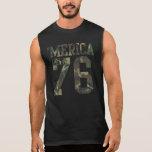 Camuflaje 'Merica Est del vintage. 1776 Camiseta Sin Mangas
