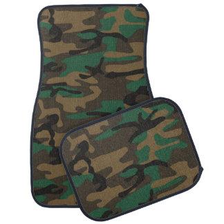 Camuflaje militar verde de Brown Camo Alfombrilla De Auto
