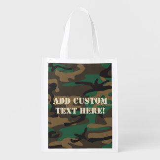 Camuflaje militar verde de Brown Camo Bolsa De La Compra